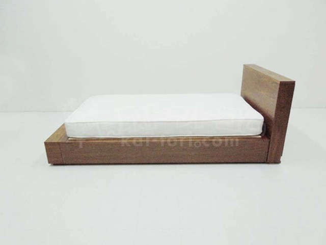 無印良品 収納ベッド シングル ウォールナット ヘッドボード 収納台付