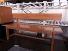 カントリー調 木製 ベンチ 2−3人掛け