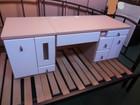 座卓タイプ 白×ベージュ ドレッサー 鏡台 …