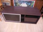 ブラックガラス引き戸 ブラウン 木製 テレビ台 テレビボード
