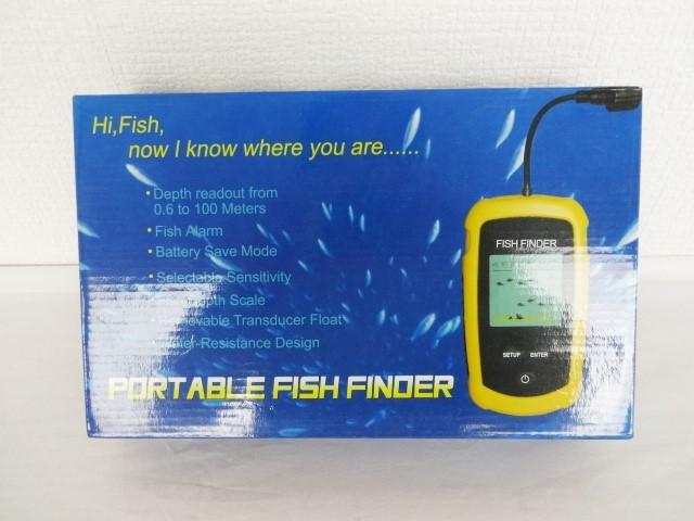 魚群探知機 ポータブル フィッシュファインダー 新品