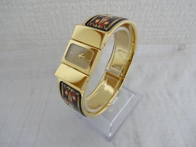 HERMES レディースバングル腕時計 ロケ L01.201