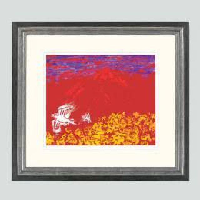 深見東州「岩手山の呼子鳥」 エディション 108/300 シルクスクリーン リトグラフ 絵画