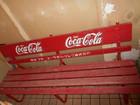 コカ・コーラ木製ベンチ