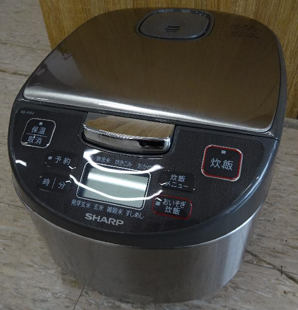 SHARP ジャー炊飯器 5.5合 KS-S10J-S 2017年