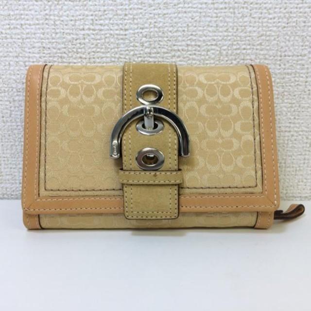 online store 65e32 1787b COACH コーチ ミニシグネチャー財布 折り財布 イエロー(コーチ ...
