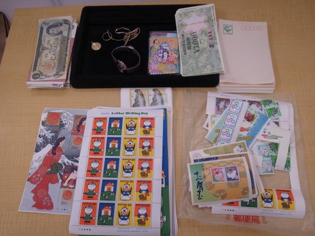 記念切手、シート、バラ、金券、貴金属など
