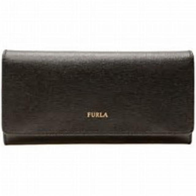 【財布】フルラ FURLA 三つ折り長財布 レザー ブラック (東京都北区にて出張買取)