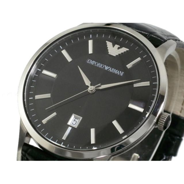 buy popular f3581 b0508 時計】エンポリオアルマーニ腕時計メンズ革ベルトレザーベルト ...