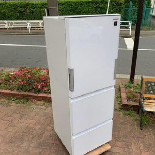 【新宿区にて出張買取】SHARP シャープ 冷凍冷蔵庫 356L SJ-GW36D-W 2018年製