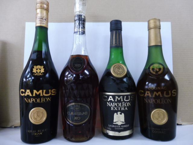 カミュ ナポレオン XO ブランデー4本買取。桐生市でウイスキー、古酒の買取はリサイクルの窓口へ